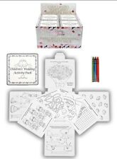 12x Wedding Childrens Activity Pack Crayons Drawing Colouring Book UK SELLER