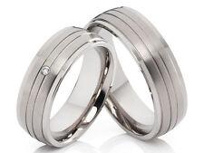 2 Fedi Nuziali Anelli di fidanzamento in titanio Zirconia Incisione