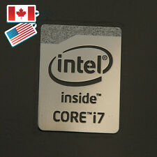Intel Core i7 Logo Chrome Metal Sticker / Haswell Case Badge Stickers 16x21mm