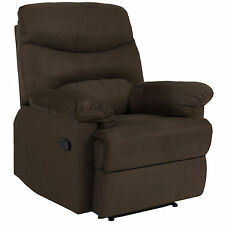 BCP Deluxe Padded Microfiber Home Recliner Chair Executive Couch Lounge Brown
