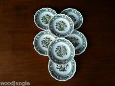 7 Antique MASON'S CHINA ENGLAND MANCHU BREAD & BUTTER PLATES  and Vintage