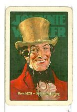 """Single Vintage Wide Playing Card, """"Johnie Walker"""" Whiskey"""