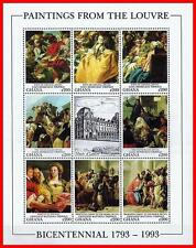 LOUVRE MUSEUM = GHANA 1993 MNH  ** TIEPOLO PAINTINGS M/S JUDAICA DENTAL medicine