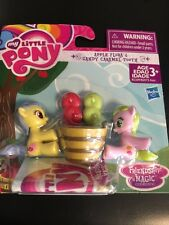 NEW My Little Pony  Mini Horse Figure lot APPLE FLORA & CANDY CARAMEL TOOTH
