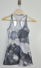 Lululemon Cool Racerback tank top size 4 White Coal Tinted Canvas CRB