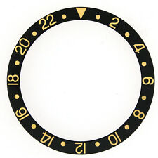 Bezel Insert Fits ROLEX GMT Black Gold 16753-1