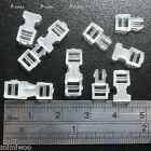 1/6 Bjd Dollfie Doll Bag DIY Material Mini Backpack Buckle 16mm White (10 sets)