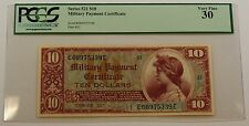 Series 521 $10 Dollar Military Payment Certificate Pcgs Vf-30