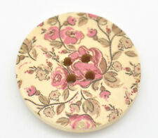 5 Wooden  Delicate Flower  Buttons 30mm Sewing  quilting cards