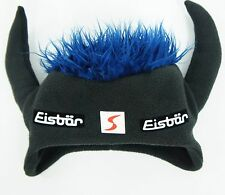 EISBAR Unisex Winter Ski Snowboard Funky Blue Hair Horns Hat Cap Mutze One Size