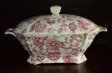 Johnson Bros English Chippendale Red/Pink Soup Tureen