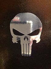 2 PUNISHER AMERICAN FLAG SNIPER DEATH CHROME SKULL DIE CUT VINYL DECAL STICKER