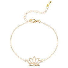 Gold Silver Plated Lotus Bracelets for Women Bangle Handmade Jewelry for Women