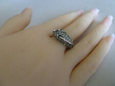 925 Sterling Silver ring (plated) Sizes 6, 7, 9 (fish) Womens quality jewellery