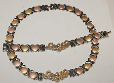 stainless steel  X & O Necklace & Bracelet Set For Ladies XOXO  multi color