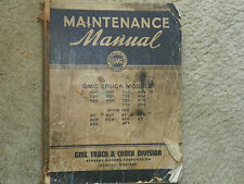 1941 GMC WWII Truck Models 500 to 890 Maintenance Manual