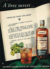 PUBLICITE ADVERTISING 025  1958  HENNESSY HENCO  gognac  LONG DRINK