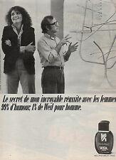 Publicité Advertising 1981  Parfum WEIL eau de toilette pour homme