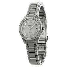 Citizen Silhouette Eco-Drive Diamond Mother of Stainless Steel Ladies Watch