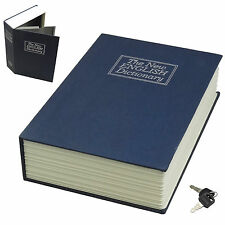 NEW Dictionary Book Safe 4 Cash Jewelry Keepsakes Secure Hiding Spot Navy Large