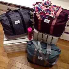 Victoria's Secret Pink MAROON Pink ZipTop Tote Bag Weekender HUGE Beach Backpack