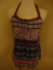 NWT Love To Love Multi Color Halter Top w/ Wooden Strap Juniors size XL