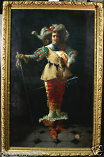 19th Century European Oil Painting of Classical Figure with Sword