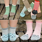 WOMEN'S CUTE 3D CARTOON ANIMAL STRIPED SANWOOD CAT FOOTPRINTS COTTON SOCKS FLOOR