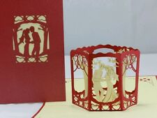 BELLISSIMO Topper sposa e sposo 3D handmade POP UP greeting card-Matrimonio, Fidanzamento