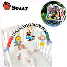 Sozzy baby hanging blue elephant and pink bunny music toy Baby Bed & Stroller