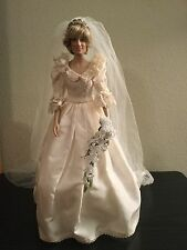 Franklin Mint Princess Diana Portrait Of A Bridal Princess Wedding Vinyl Doll