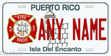 Puerto Rico Fire Any Name Personalized Novelty Car License Plate