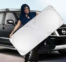 Folding Jumbo Front Rear Car Window Sun Shade Auto Visor Windshield Block Cover