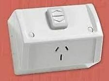 CLIPSAL SINGLE POWERPOINT WEATHERPROOF OUTLET SOCKET GPO POWER POINT IP53 1 GREY