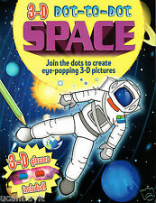 3-D Dot-to-Dot SPACE Activity Book with 3D Space Glasses Included Ages 3+