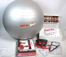 MET RX 180 WORKOUT PROGRAM KIT FITNESS BALL WEIGHT LOSS 12 DVDS EXERCISE A-28