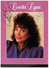Hand Signed Loretta & Patsy Lynn Autographed Booklet w/Family Photos & Biography