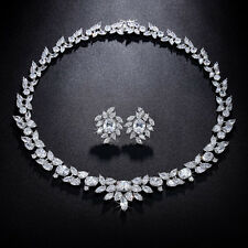 BID Bridal Jewelry Set Multishaped Cubic Zircon Engagement Earrings And Necklace
