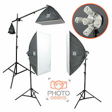 Continuous Softbox Studio Lighting Boom Kit - 3300w Photography Photo Portrait 3
