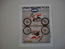 advertising Pubblicità 1990 MOTO KTM MX 250
