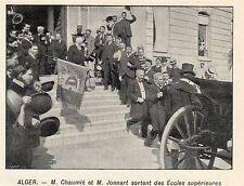 ALGERIA ALGER MRS CHAUMIE ET JONNART SORTENT DES ECOLES SUPERIEURES IMAGE 1904