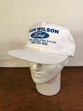 Men's Ken Wilson Ford Horse Trailers Sales White Trucker Snapback Hat (CH2)