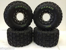 Hiper Tech 3 Beadlock Wheels Maxxis Razr 2 Tires Front/Rear Kit YFZ450R YFZ450