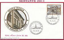 ITALIA FDC ROMA LUXOR 492 1991 LICEO GINNASIO AZUNI SASSARI ANNULLO TORINO T965