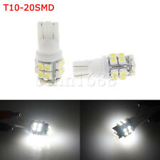 4x  20SMD LED  White T10 W5W 194 168 501 High Power carInverted Side Wedge Lamp