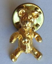 Teddy Bear Small Golden Pin Brooch Rare Vintage (H3)