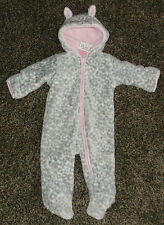 NWT Baby Girls Animal Print Snowsuit With Ears Size 6/9 Months