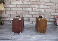 Retro Leather Suitcase Piggy Bank Money Box Creative Crafts Gifts Desktop Decora