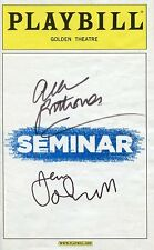 AUTOGRAPHES SUR PLAYBILL de Alan RICKMAN et Jerry O'CONNELL (signed in person)