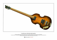 Paul McCartney's '63 Hofner 500/1 Beatle Bass Ltd Edition Fine Art Print A3 size